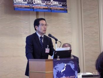 特別企画としてセミナーを行う ニッケグループ 佐藤産業株式会社の岡安氏