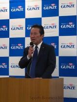 グンゼ、廣地厚社長。 アパレル事業の拡大を目指す