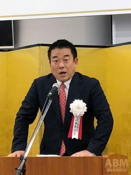 新社屋への思いを語る 美馬成望代表取締役社長