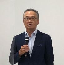 日光信二 代表取締役社長執行役員。 ブランドの普及、リニューアルに関して 「消費者からどう受け止められているかが大事」と語った