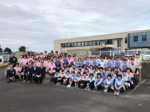 島原ソーイング(株) 下宮工場(外観)