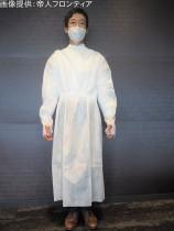 着用試験に使用する医療用ガウン