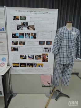 長野県屋代南高等学校ライフデザイン科による シニアファッションの改良提案の展示。