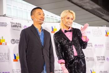 長谷部健渋谷区長 (写真左)とりゅうちぇるさん(写真右)