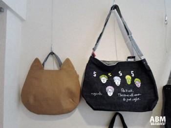 無地のバッグにお客さまのイメージを描き、世界に1つだけのバッグが完成。