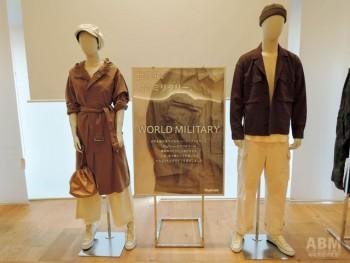 「ワールドミリタリー」では、 古着をエッセンス的に取り入れることで、 大人のカジュアルに見せている。