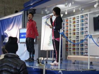「テックバン」によるイベントも開催 (ミズノ、大阪マラソンEXPO)