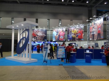 グローバル展開の効果が表れてきた東京マラソン。 写真はエキスポのブース