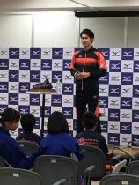 ユーザーイベントに登壇した 飯塚翔太選手