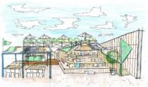 """""""海の家""""「THE SAIL HUS in 一色海岸」 (イメージ図)"""