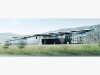 デサント、アパレルの「R&Dセンター」 完成予想図(外観)