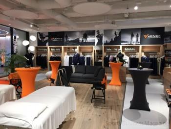 「ベネクス」欧州1号店。 物販のほか、施術サービスも提供する