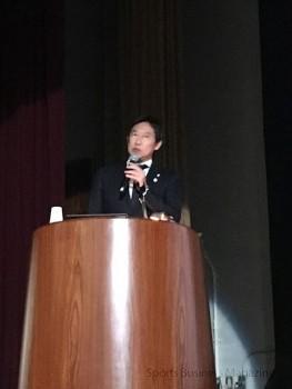 基調講演を行う 鈴木大地スポーツ庁長官