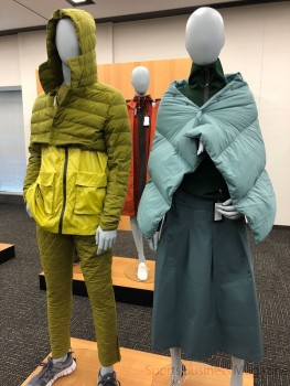 旭化成アドバンス「ライブギア展」。 タウンユースを意識したスタイリングを提案