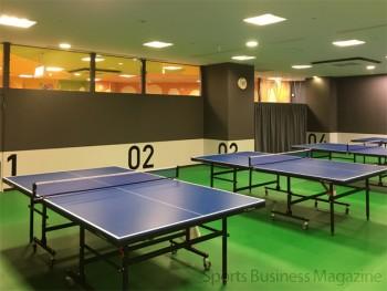 卓球のプレーのほか、 コミュニティーの場としても活用する