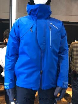 ハイエンドモデルのスキーウエア「ウラノス」。 高機能、高額品を拡充する