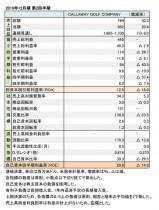 CALLAWAY GOLF COMPANY、2019年12月期 第2四半期 財務数値一覧(表1)