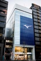「MIZUNO TOKYO」の外観。 フラッグシップ大阪店と同じデザイン