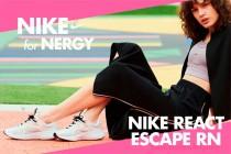 女性向けランニングシューズ 「NIKE for NERGY NIKE REACT ESCAPE RN」。 日常シーンでの使用も想定