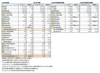 主要上場スポーツ小売店3社、 決算まとめ(表1)